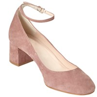 John Lewis Angie Block Heeled Court Shoes Nude