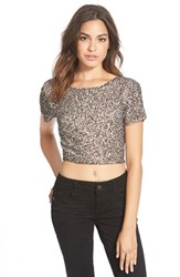 Junior Women's Billabong 'Showin' Off' Sequin Crop Top