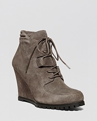Steven By Steve Madden Lace Up Wedge Booties Wardin Taupe