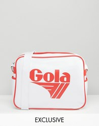 Gola Classic Redford Messenger Bag In White And Red White And Red Multi