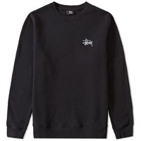 Stussy Basic Crew Sweat Black