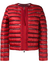 Moncler Quilted Jacket Red