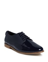 Dune Flossy Round Toe Lace Up Shoes Navy Blue