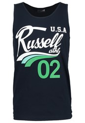 Russell Athletic Vest Navy Blue