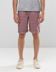 Bellfield Cotton Striped Shorts Grey