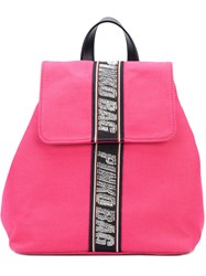 Pinko Embellished Brand Backpack Pink And Purple