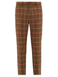 Connolly Checked Wool Trousers Brown Multi