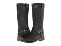 Frye Smith Harness Tall Black Stone Wash Women's Pull On Boots