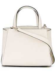 Valextra Detachable Shoulder Strap Tote Women Calf Leather Leather One Size Nude Neutrals