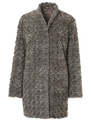 Betty Barclay Faux Fur Coat Grey Taupe