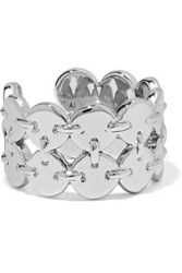 Luv Aj Double Disco Fever Silver Tone Ring Silver