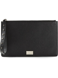 Tod's Stud Wristband Clutch Black