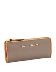 Dooney And Bourke Claremont Leather Wallet Taupe