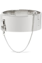Eddie Borgo Safety Chain Silver Plated Bracelet