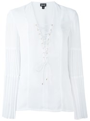 Just Cavalli Lace Up Blouse White