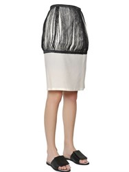 J.W.Anderson Silk And Cotton Twill Fringed Pencil Skirt
