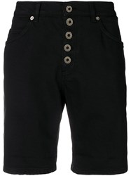 Dondup Short Denim Shorts Black