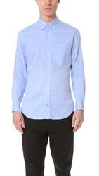 Gitman Brothers Vintage Long Sleeve Blue Zephyr Oxford Shirt