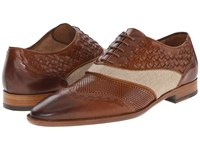 Etro Mixed Leather Wingtip Tobacco Men's Lace Up Wing Tip Shoes Brown