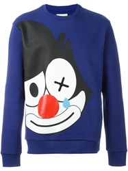 Iceberg Felix The Cat Print Sweatshirt Blue