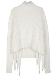 Helmut Lang Off White Angora Blend Jumper