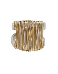 Robert Lee Morris Wired Warrior Wire Wrapped Sculptural Ring Two Tone