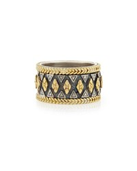 Konstantino Wide 18K Gold And Sterling Silver Ring