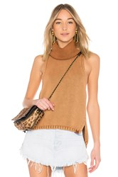 One Teaspoon New Paris Stonewashed Roll Neck Sweater Brown