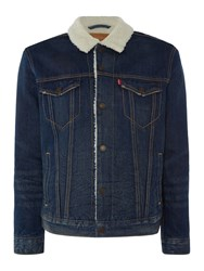 Levi's Men's Type 3 Fleece Lined Denim Sherpa Jacket Denim