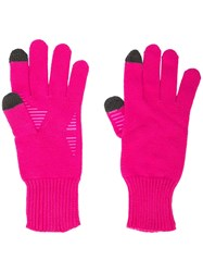 Opening Ceremony Logo Knit Gloves Pink