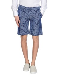 Grey Daniele Alessandrini Trousers Bermuda Shorts Men Slate Blue