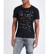 Nudie Jeans Letter Stamped Pure Cotton T Shirt Letter Stamps