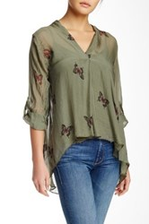 Luma Hi Lo Blouse Green