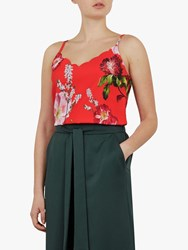 Ted Baker Seliina Floral Print Camisole Red