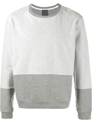 Lot 78 Lot78 Colour Block Sweatshirt Grey