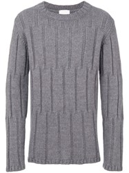 Lost And Found Rooms Crew Neck Sweater Men Acrylic Wool Alpaca Xs Grey