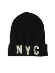 Saks Fifth Avenue Cashmere Nyc Hat Black