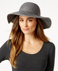 Calvin Klein Logo Wool Floppy Hat Heather Mid Gray
