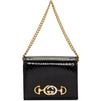 Gucci Black Python Linea Wallet Bag