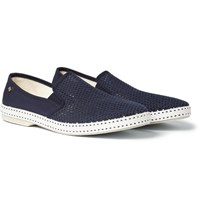 Rivieras Cotton Mesh And Canvas Espadrilles Blue
