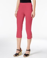 Jm Collection Petite Lattice Hem Capri Pants Only At Macy's Perfect Rose