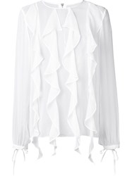Thomas Wylde Silk 'Enlighten' Blouse White