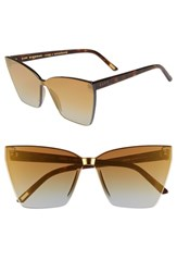 Diff Goldie 65Mm Rimless Butterfly Sunglasses Gold Tortoise Gold Flash Gold Tortoise Gold Flash