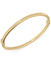 Macy's Square Tube Hinge Bangle Bracelet In 14K Gold