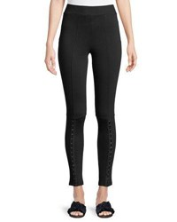 Dex Hook Front Long Leggings Black