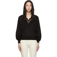 Chloe Black Lace Trimmed Sweater