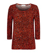 Claudie Pierlot Barney Leopard Print Top Female Red