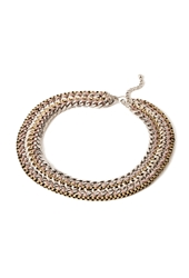 Forever 21 Braided Chain Statement Necklace B.Silver Lavender