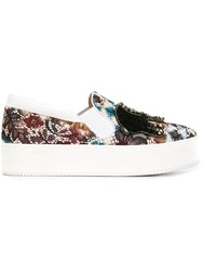 No21 Embellished Slip On Sneakers White