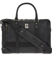 Diesel Mohican Leather Briefcase Black
